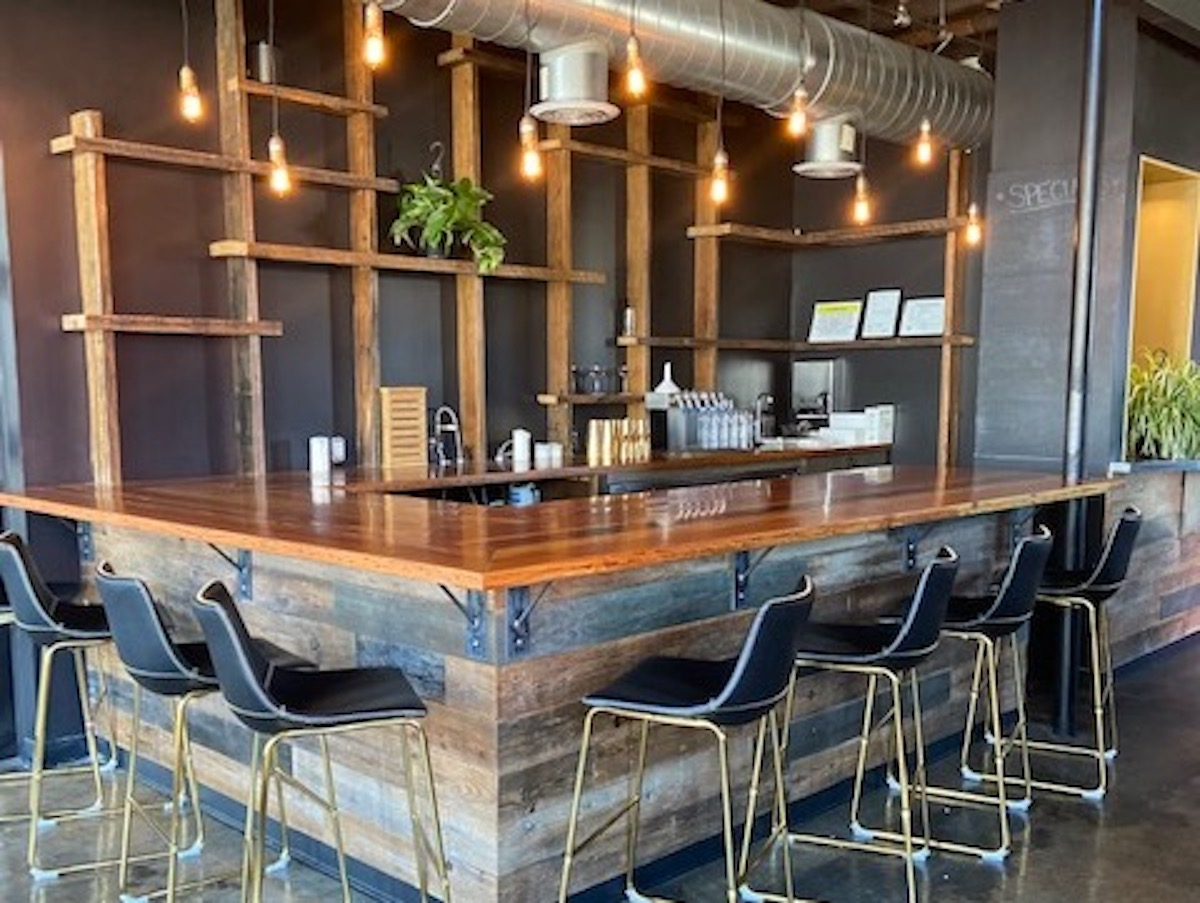 A photo of the bar area of Proof.