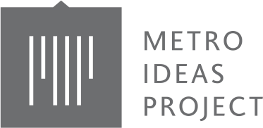 Pictured is a logo of the metro ideas project